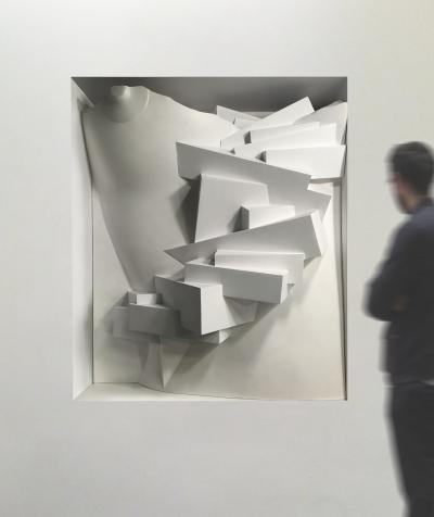 Kevin Kelly Staircase Descending A Nude