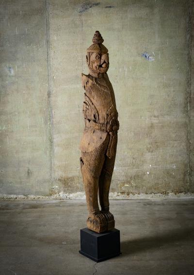 Khmer Carved Wood Garuda