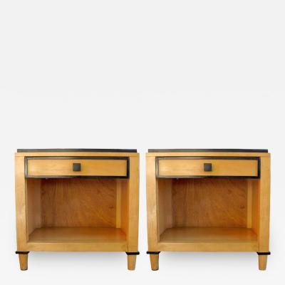 Kimball Hospitality Furniture, Inc   Pair Of Two Tone Wooden Side Tables By  Kimball Hospitality