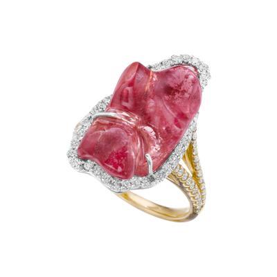Kimberly McDonald Pink Sapphire and gold Ring by Kimberly McDonald