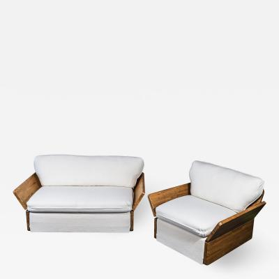 Kinga Andreas Dozsa Farkas Kinga Andreas Dozsa Farkas Set of One Sofa and One Armchair circa 1977