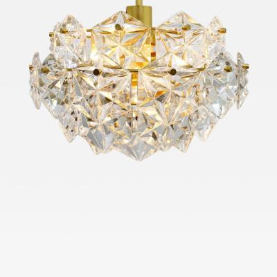 Kinkeldey Kinkeldey Crystal Glass Chandelier Gilded Brass Germany 1960s
