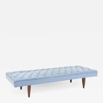 Kipp Stewart Kipp Stewart Chesterfield Tufted Leather Daybed Calvin Furniture 1960s