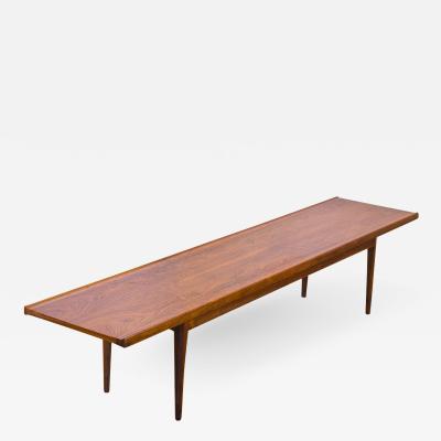 Kipp Stewart Kipp Stewart Long Walnut Bench for Drexel