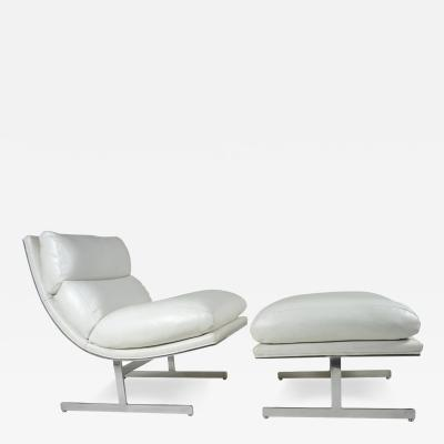 Kipp Stewart Modern Lounge Chair and Ottoman by Kipp Stewart for Directional Circa 1970