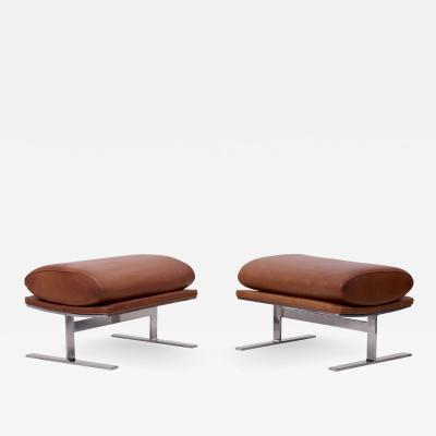 Kipp Stewart Pair of Arc Stools can also be used as a Bench by Kipp Stewart for Directional