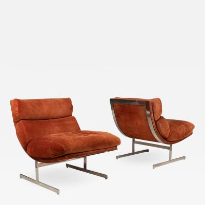 Kipp Stewart Pair of Lounge Chairs by Kipp Stewart for Directional