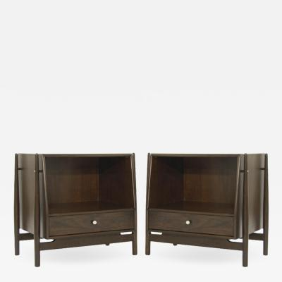 Kipp Stewart Pair of Walnut End Tables by Kipp Stewart 1950s