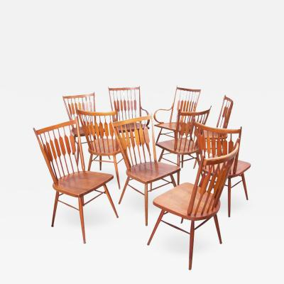 Kipp Stewart Set of Ten Kipp Stewart for Drexel Centennial Chairs