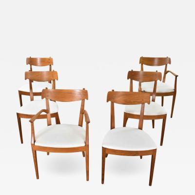 Kipp Stewart Stewart MacDougall Drexel declaration walnut dining chairs by kipp stewart and stewart macdougall