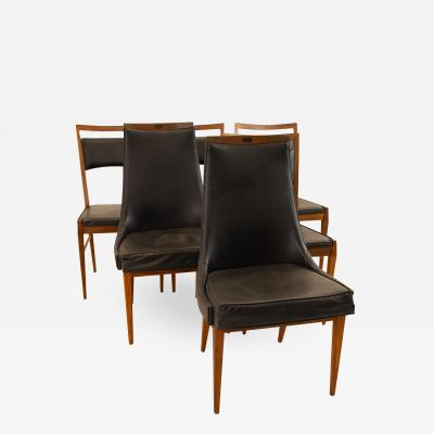 Kipp Stewart for Calvin Mid Century Dining Chairs Set of 6