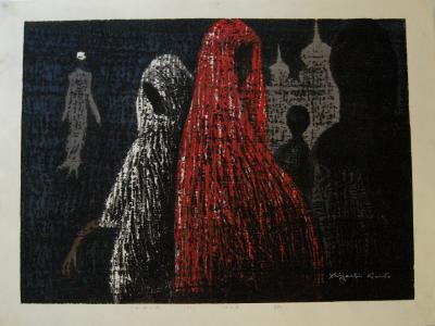 Kiyoshi Saito Rare Kiyoshi Saito Woodblock Print ndia C 3 80 1968