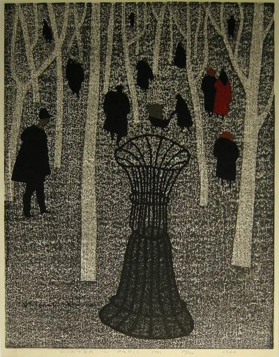 Kiyoshi Saito Winter in Paris A by Kiyoshi Saito 1966