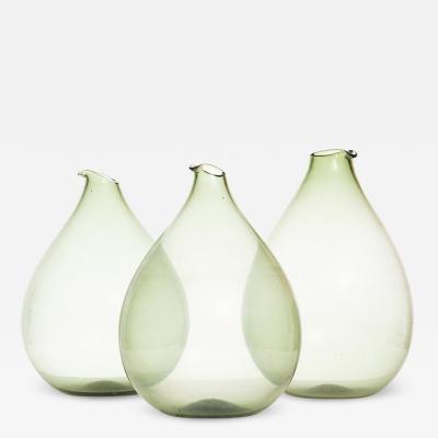 Kjell Blomberg Kjell Blomberg Glass Vases by Gullaskruf