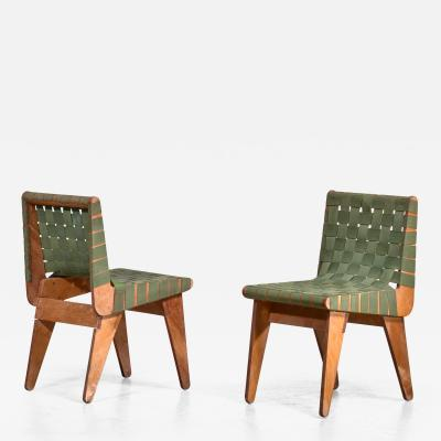 Klaus Grabe Klaus Grabe pair of webbed side chairs