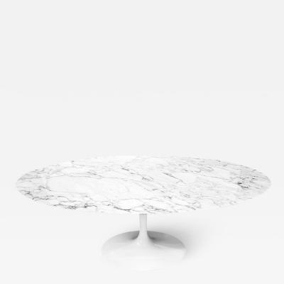 Knoll Saarinen Arabescato Marble Oval Table