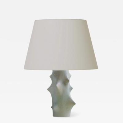 Knud Basse Mod Rose Thorn Table Lamp in Ethereal Pale Green by Knud Basse