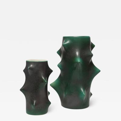 Knud Basse ROSE THORN VASES DARK GREEN BY KNUD BASSE FOR MICHAEL ANDERSEN SON