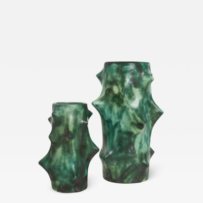 Knud Basse ROSE THORN VASES GREEN BY KNUD BASSE FOR MICHAEL ANDERSEN SON
