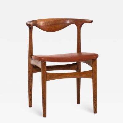 Knud Faerch Chair Model SM 521 Cowhorn Chair Produced by Slagelse M belfabrik