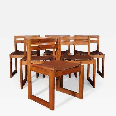Knud Faerch Knud F rch for Sor chair factory dining chairs made of pine and leather 6