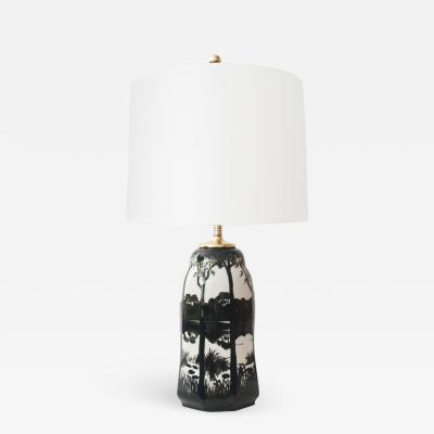 Knut Hallgren Swedish Ceramic Table Lamp by Knut Hallgren for Alp Lidkoping