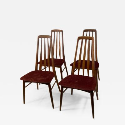 Koefoeds Hornslet SUITE OF FOUR DANISH MID CENTURY MODERN EVA DINING CHAIRS