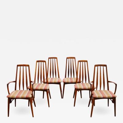 Koefoeds Hornslet Set of 6 Restored Koefoeds Hornslet Rosewood Eva Chairs 2 w Armrests