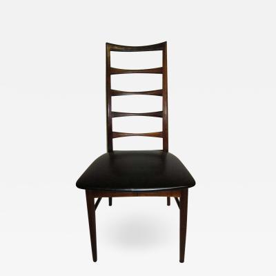 Koefoeds Hornslet Set of Eight Solid Rosewood Koefoeds Hornslet Dining Chairs Danish Modern