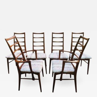 Koefoeds Hornslet Set of Six Koefoeds Hornslet Teak Dining Chairs Midcentury Danish
