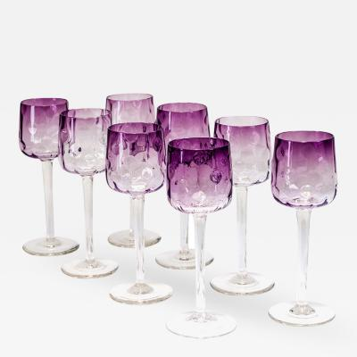 Koloman Moser 9 Wine Glasses Meteor Koloman Moser around 1900