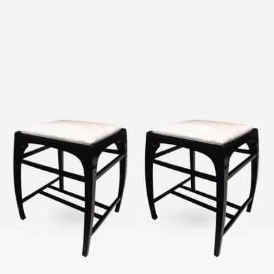 Koloman Moser Pair of Austrian Secession Stools attributed to Koloman Moser