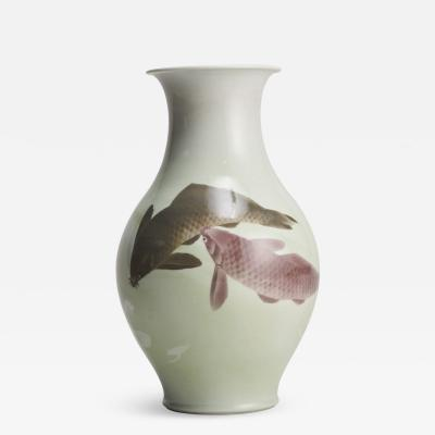 Kozan Makuzu A delightful Japanese vase signed Mazuku Kozan