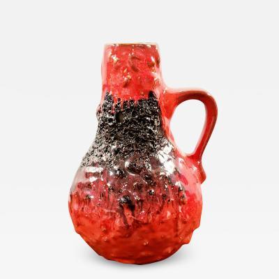 Kreutz Keramik KREUTZ KERAMIK RED BLACK FAT LAVA JUG VASE 201 23 5 cm