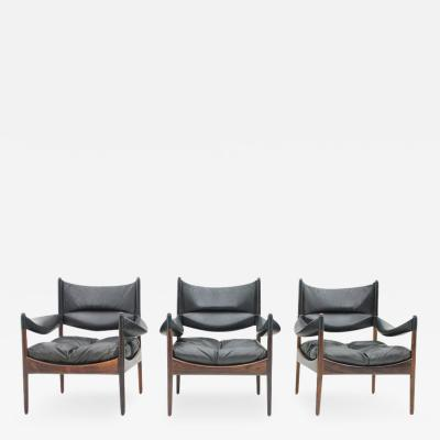 Kristian Solmer Vedel High Back Lounge Chairs by Kristian Solmer Vedel Made by S ren Willadsen 1963