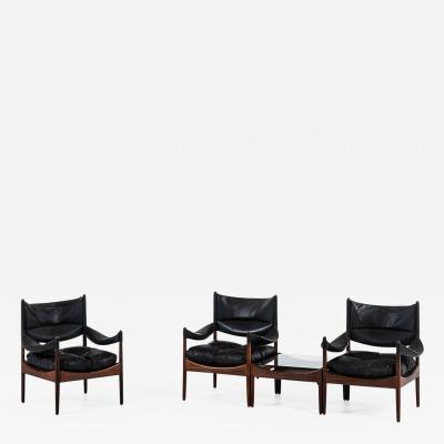 Kristian Solmer Vedel Kristian Solmer Vedel Easy Chairs with Side Table Model Modus
