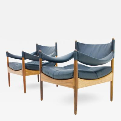 Kristian Solmer Vedel Pair of Lounge Chairs by Kristian Solmer Vedel Denmark 1963