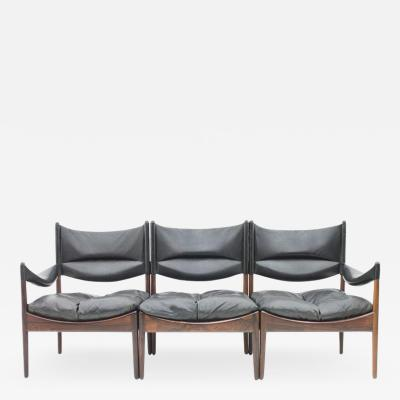 Kristian Solmer Vedel Rare High Back Three Seat Sofa by Kristian Solmer Vedel for S ren Willadsen