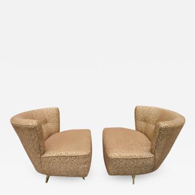 Kroehler Mfg Co Fabulous Pair of Kroehler 1950s Swivel Lounge Chairs Mid Century Modern
