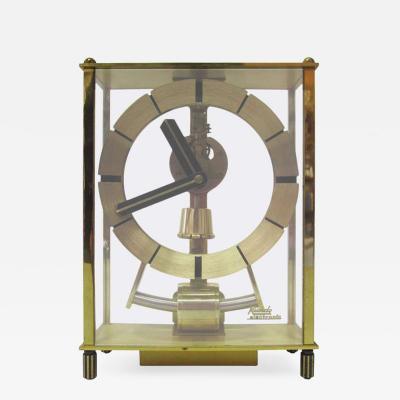 Kundo Mid Century Brass Skeleton Clock by Kundo