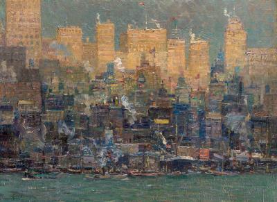 Kurt Albrecht New York from the East River
