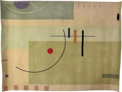 Kurt Meinecke Vintage modernist wool rug by meinecke collection exclusively for herman miller