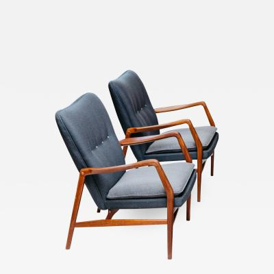 Kurt Olsen Model 215 Wing Back Chairs for Slagelse M belvaerk