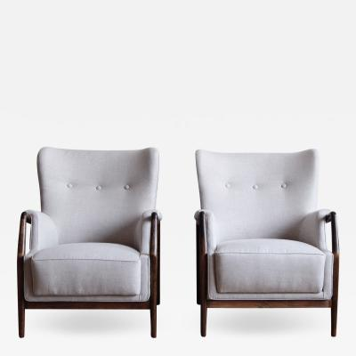 Kurt Olsen Pair of Kurt Olsen Wingback Chairs