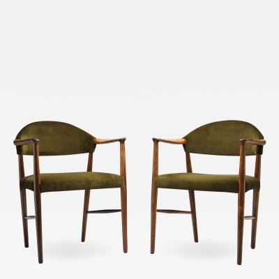 Kurt Olsen Pair of Model 223 Armchairs by Kurt Olsen for Slagelse M belv rk Denmark 1955