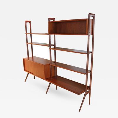 Kurt Ostervig Freestanding Danish Modern Bookshelf in Teak