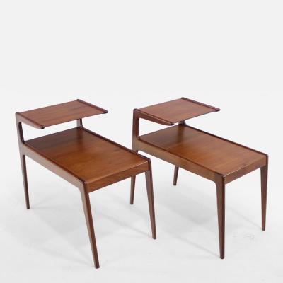 Kurt Ostervig Pair of Danish Modern Side Tables Designed by Kurt Ostervig