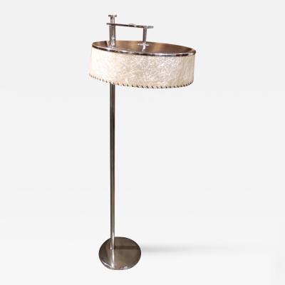 Kurt Versen Convertible Mid Century Deco Floor Lamp by Kurt Versen