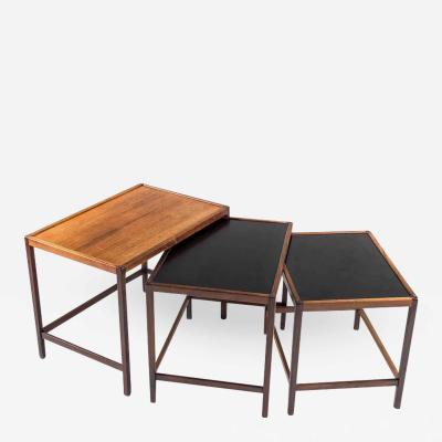 Kurt stervig Danish Mid Century Nesting Tables in Rosewood by Kurt stervig