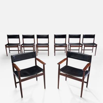 Kurt stervig Kurt Ostervig A Set of Eight Kurt stervig Dining Chairs for Sibast Denmark 1960s